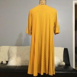 Old Navy Dresses - Jersey Swing Dress in Mustard Dots